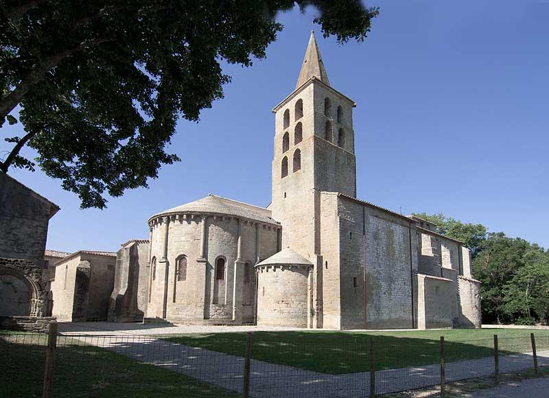Vue de l'Abbaye de Saint-Papoul
