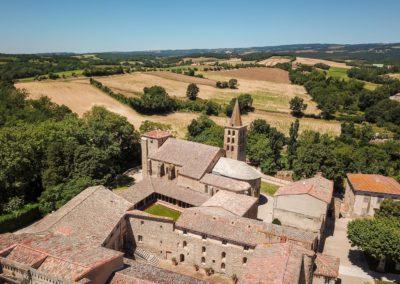 Vue Abbaye Saint-Papoul
