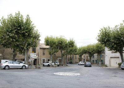 Vue centre village Saint-Papoul